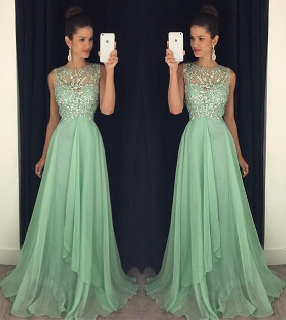 Open back prom dresses, Green prom