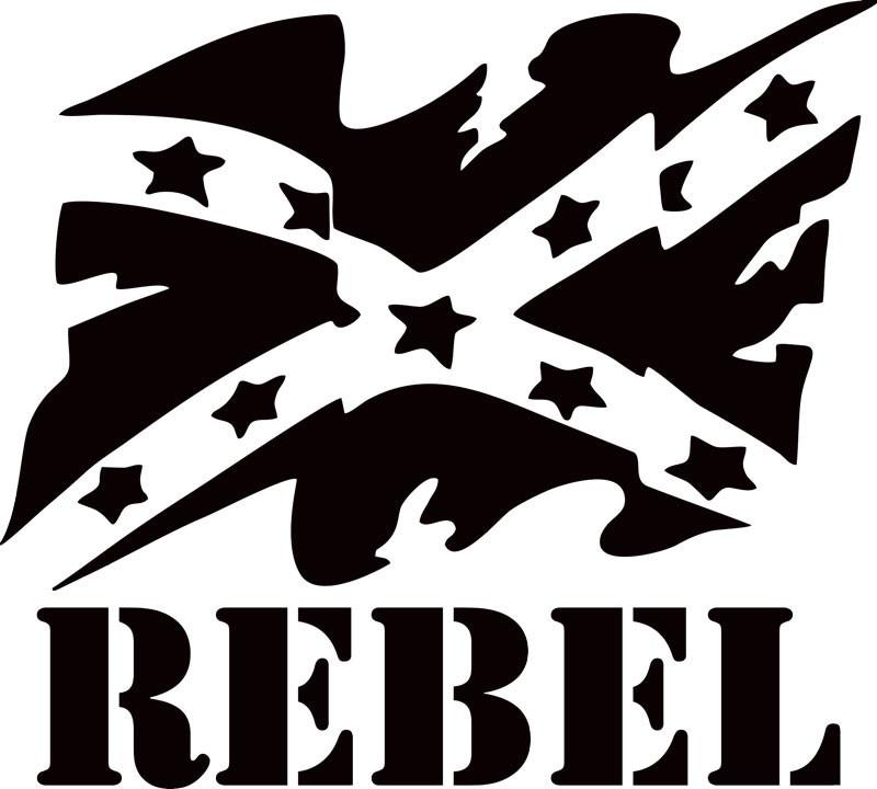 Rebel browning decal