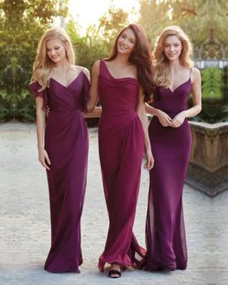 3dd511b679d3 Burgundy bridesmaid dresses, mismatched bridesmaid dresses, chiffon  bridesmaid dresses, gorgeous bridesmaid dresses,