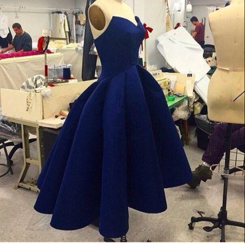 Charming navy blue short prom dress,homecoming dresses · Dream Prom ...