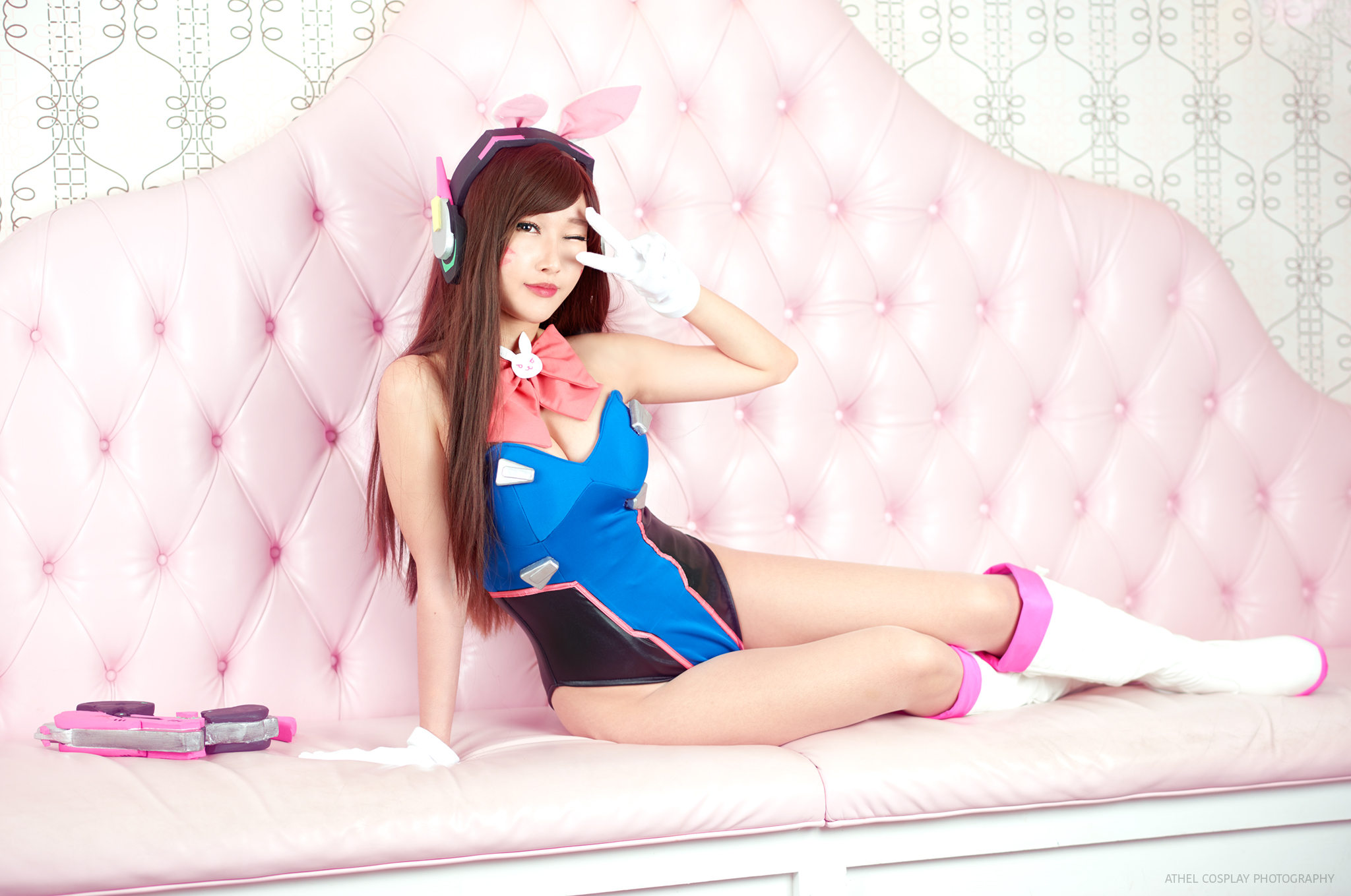 ce8902522b Overwatch Bunny D.VA Cosplay Signed RinnieRiot Print 8 · RinnieRiot ...