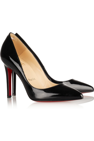 new product 1e622 6f849 Christian Louboutin Pigalle Patent Leather Black Pump 38 from My Own Luxury