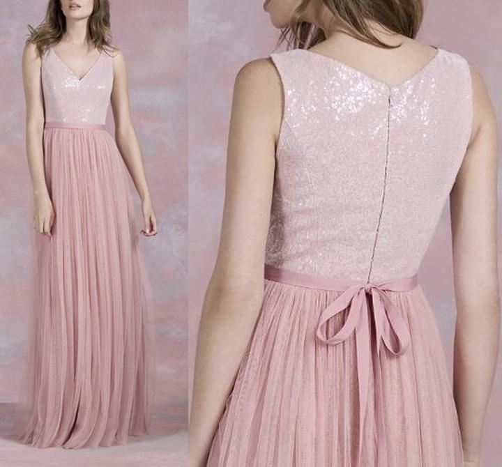 228e930453a Pretty tulle bridesmaid dress