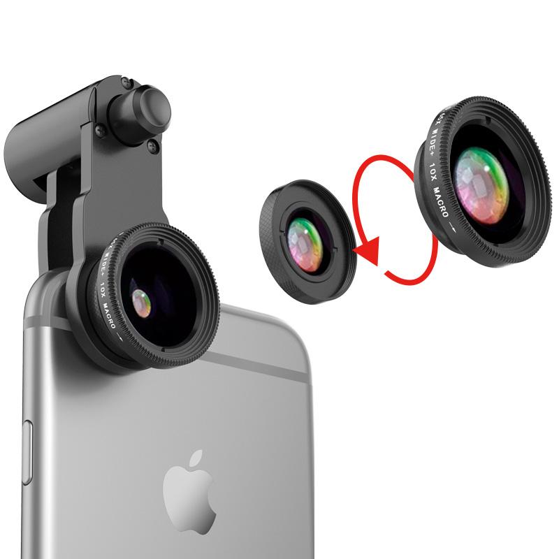 newest 5d89b 69998 Samsung iPhone Wide Macro Fisheye Angle Lens Universal External Camera PHE03
