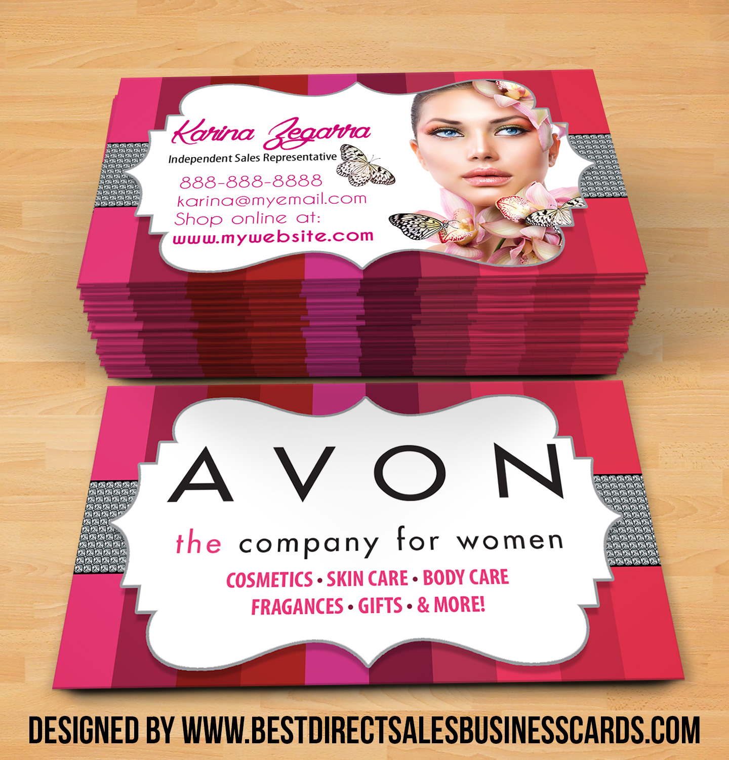 avon business cards style 2 · kz creative services