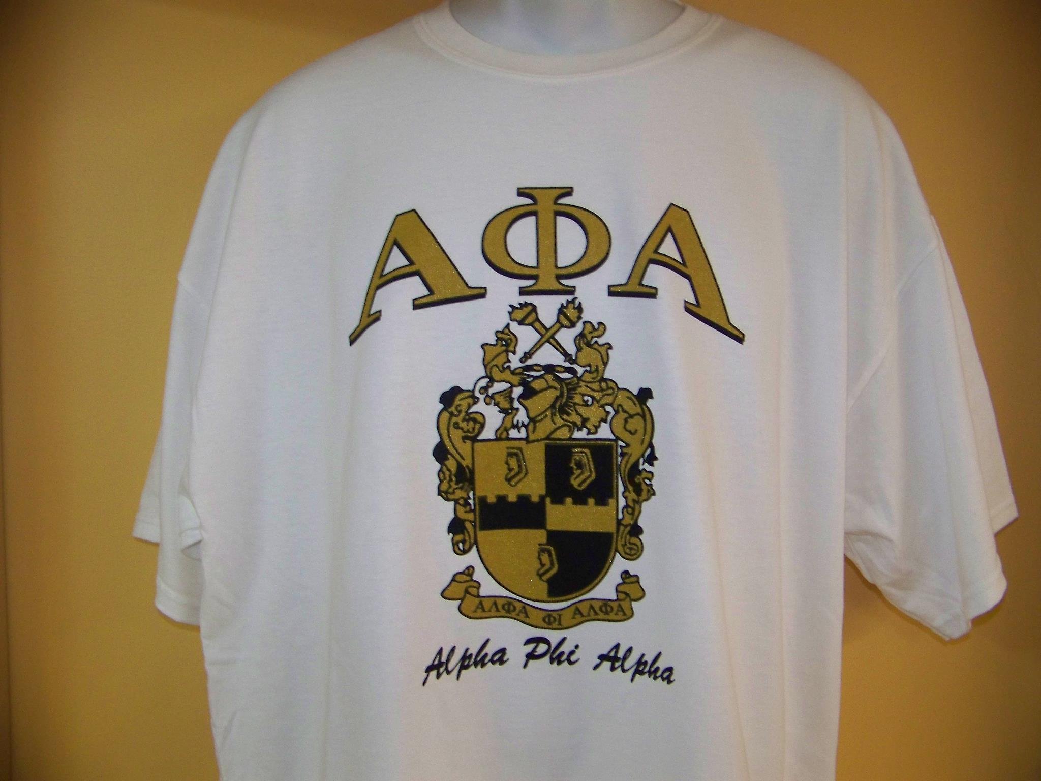 Storenvy coupon: Fraternity - Alpha Phi Alpha Crest Emblem White T-Shirt