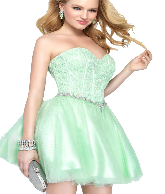 J135 Sexy Sweetheart Short Mini Homecoming Dress, Mint Elegant ...