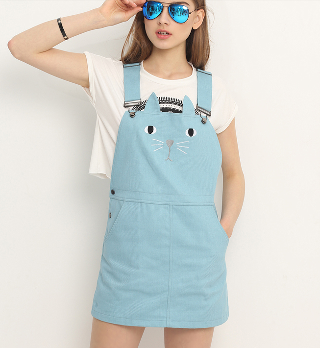 Cute Cat Suspender Dress