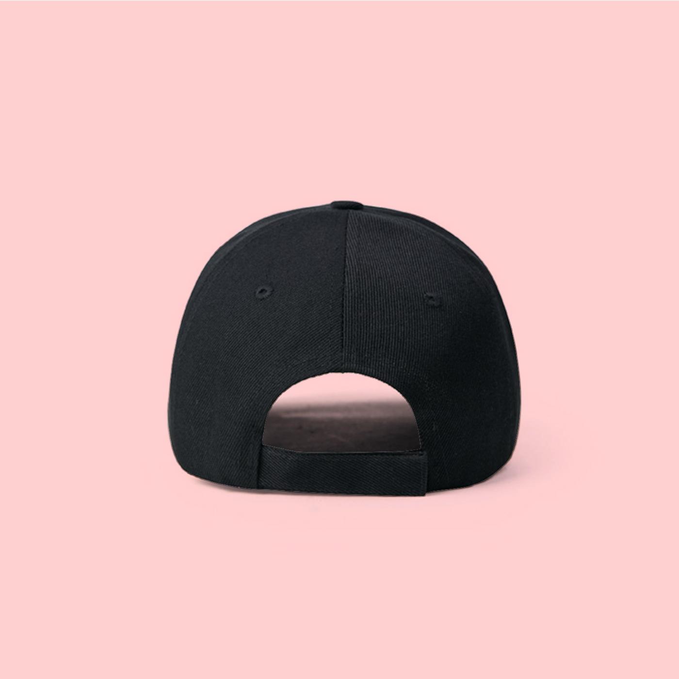 8091cc60a4f ... UNISEX VAPORWAVE ON A SEA WAVE BASEBALL CAP IN BLACK - Thumbnail 2