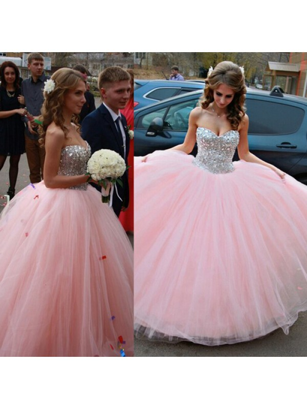 Long Prom Dress,ball gown dress,pink prom dress,sparkly prom dress ...