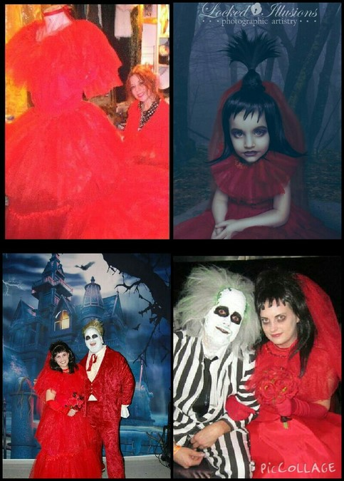 Child Size Lydia Deetz Beetlejuice Red Wedding Dress
