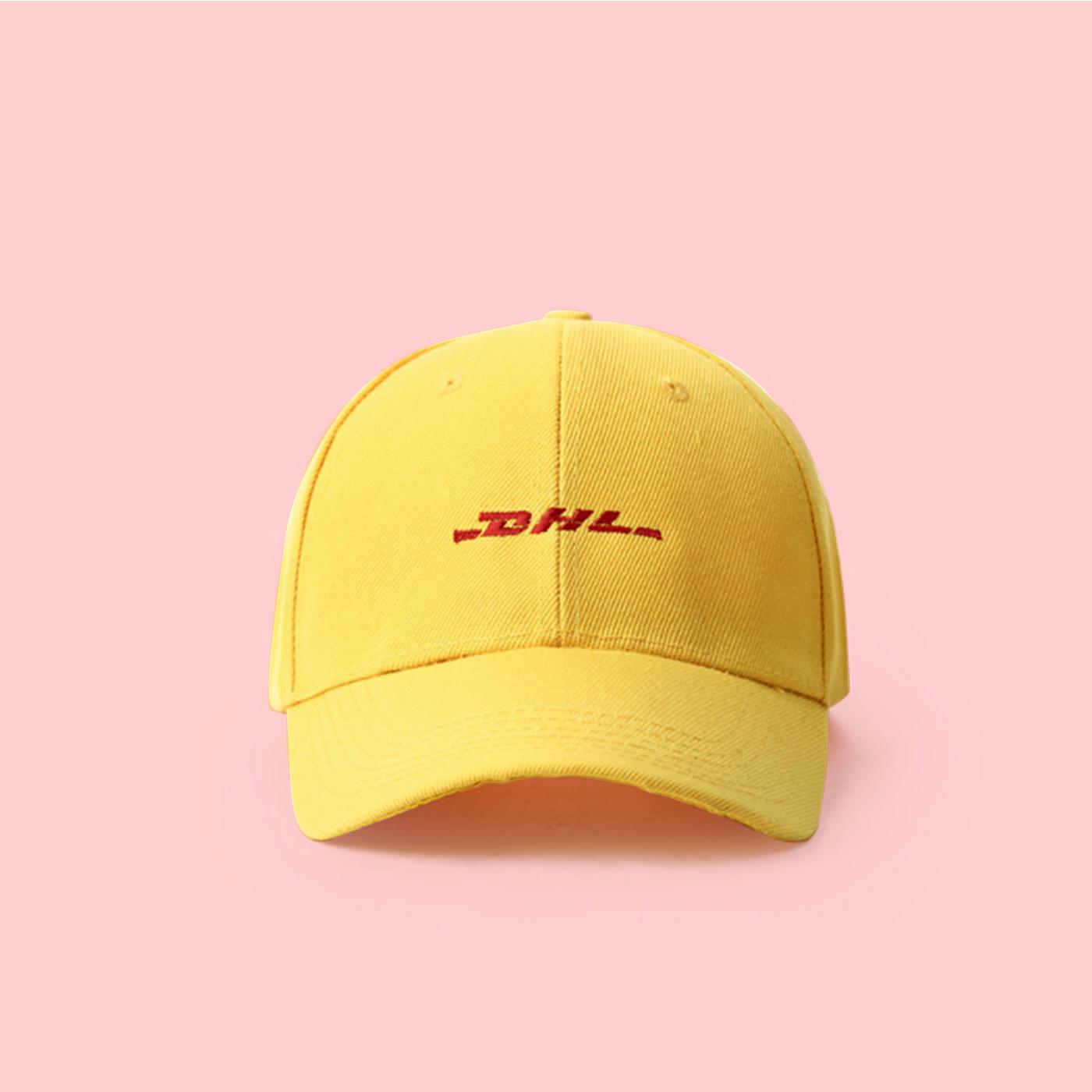 b85a04df288 DHL COURIER SPOOF BASEBALL CAP ORIGINAL on Storenvy