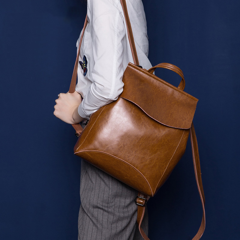 8e05bf3aae748 Women's Handmade Leather Backpack / Day Pack / Leather Satchel #B02 ...