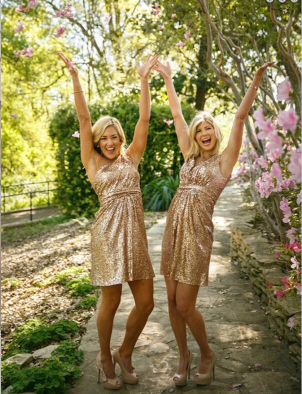 bf13f228a49 Gold sequin bridesmaid dresses