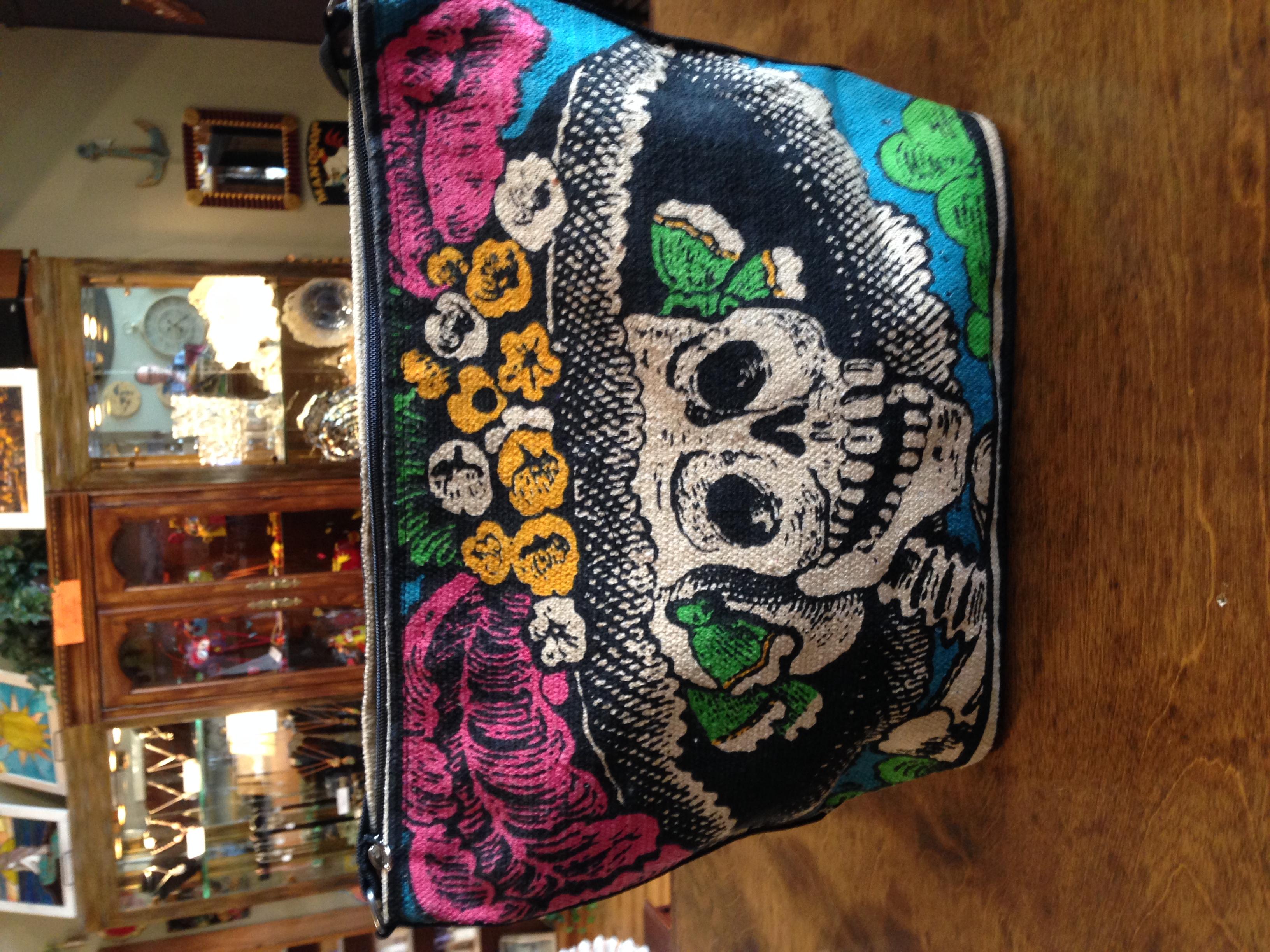 """Handmade Fair-trade - Dia De Los Muertos - """"day OF THE Dead"""" 100% Cotton Purses! (48937745 SWANKYZ"""
