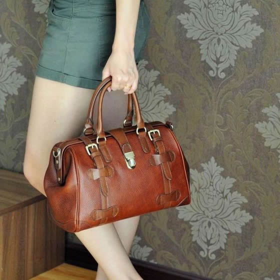 Vintage Handmade Antique Cow Leather Women's Handbag / Purse / Shoulder Bag / Messenger Bag #m22 (49100732) photo