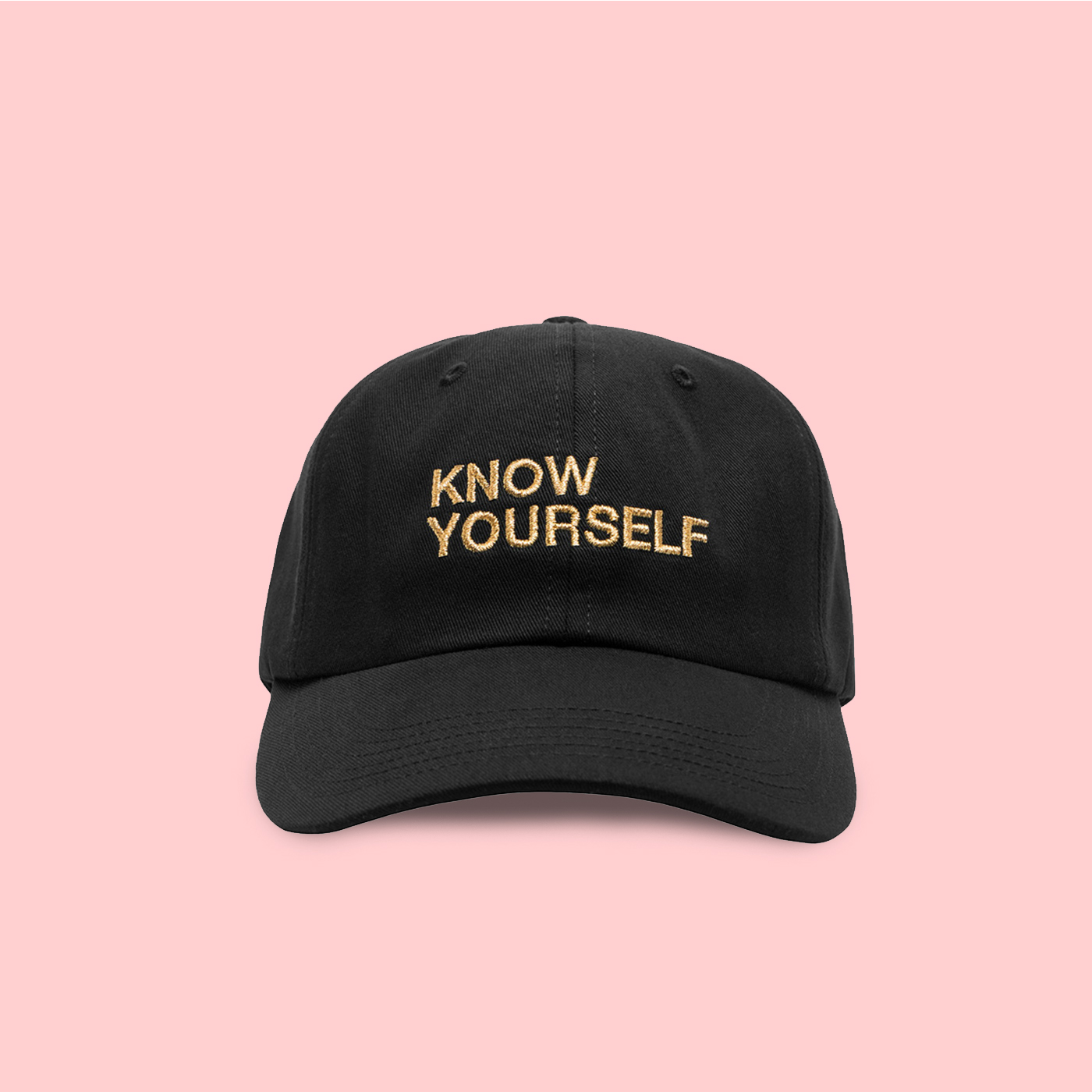 2ec495b6f27 UNISEX KNOW YOURSELF BASEBALL CAP IN BLACK · soldrelax · Online ...