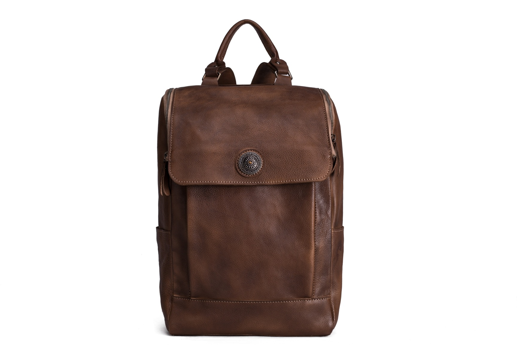Vegetable Tanned Leather Backpack/ Travel Backpack/ School Backpack 9026