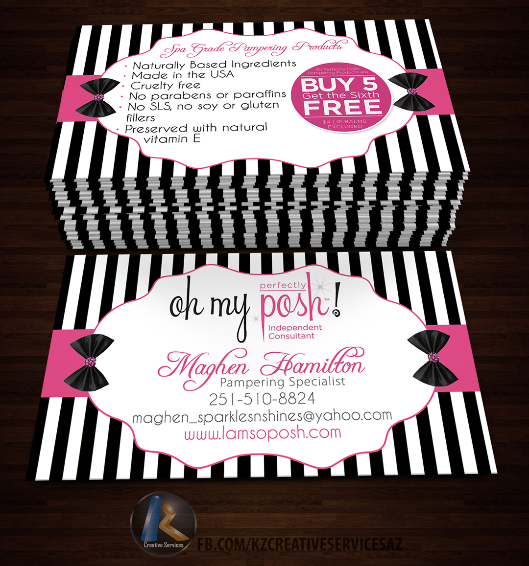 Image of PERFECTLY POSH BUSINESS CARDS - 12