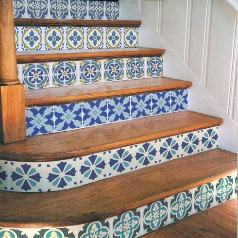 Portugese Tile Stencil Set Size Medium Quick And Easy