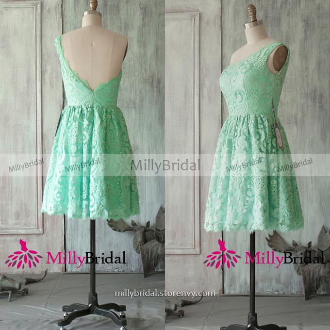 8f57181195 Unique Sage One Shoulder Bridesmaid Dresses
