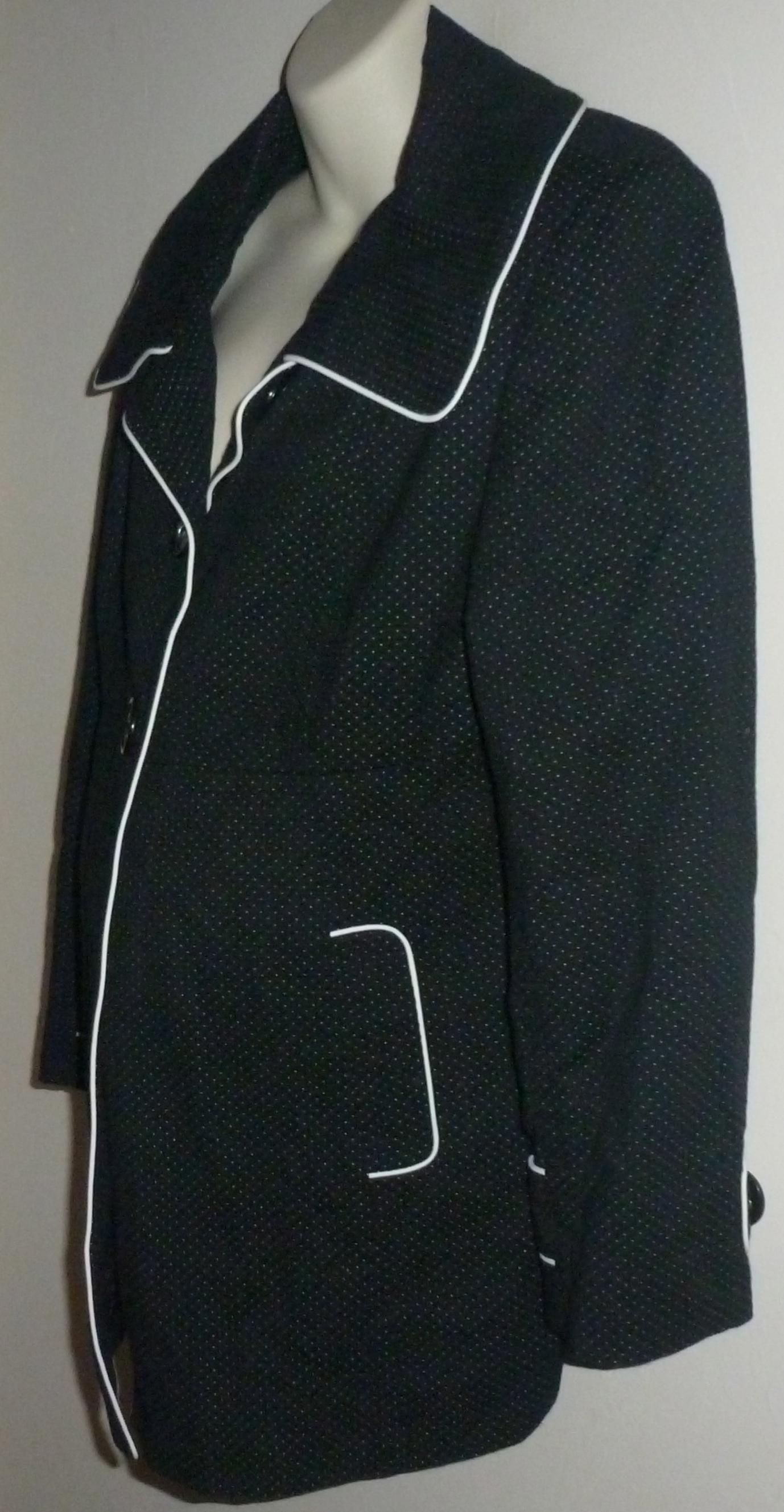52f128098703c Black/White Lined Coat-Liz Lange Maternity Size Large on Storenvy