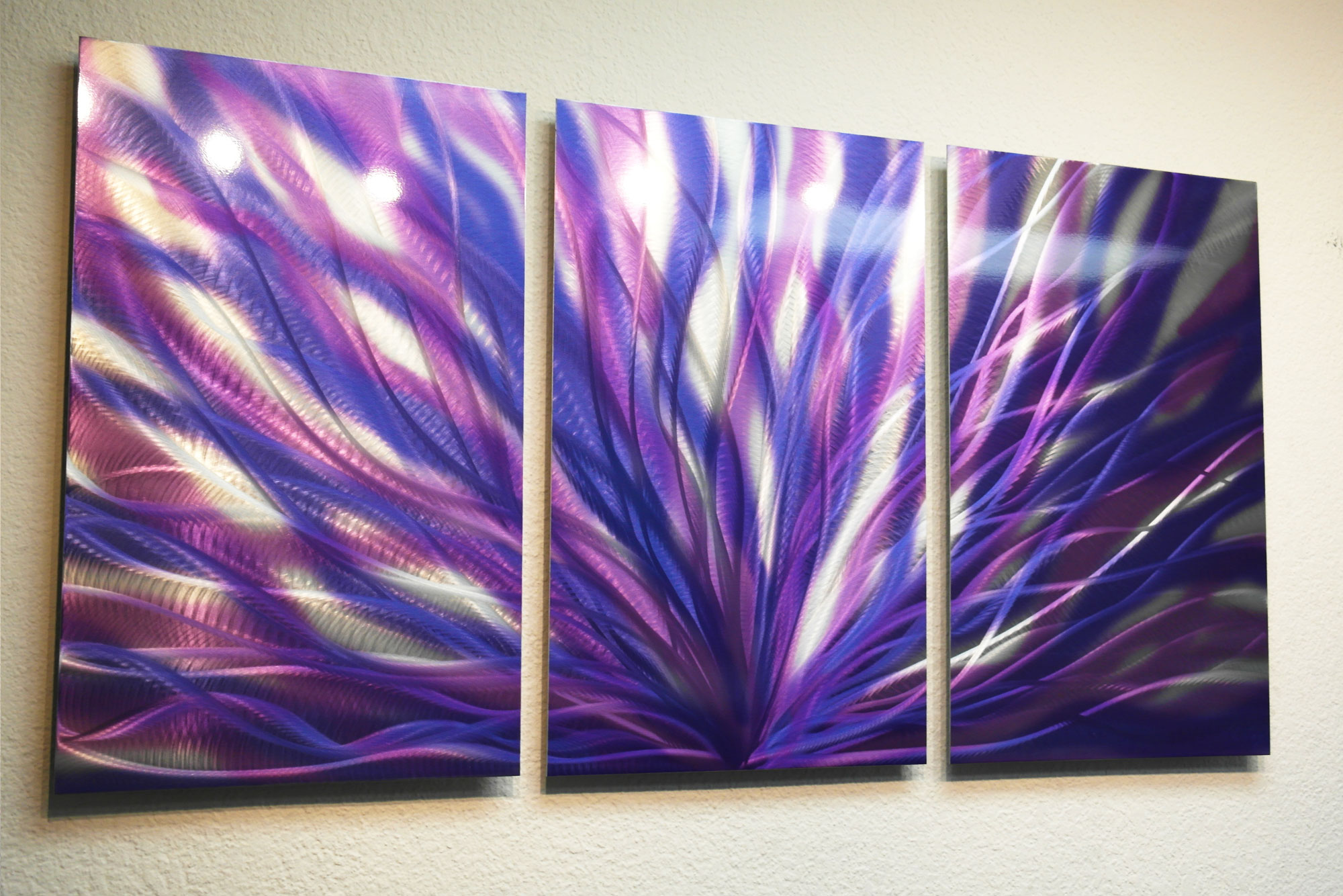 Radiance Purple 47 - Metal Wall Art Abstract Sculpture ...