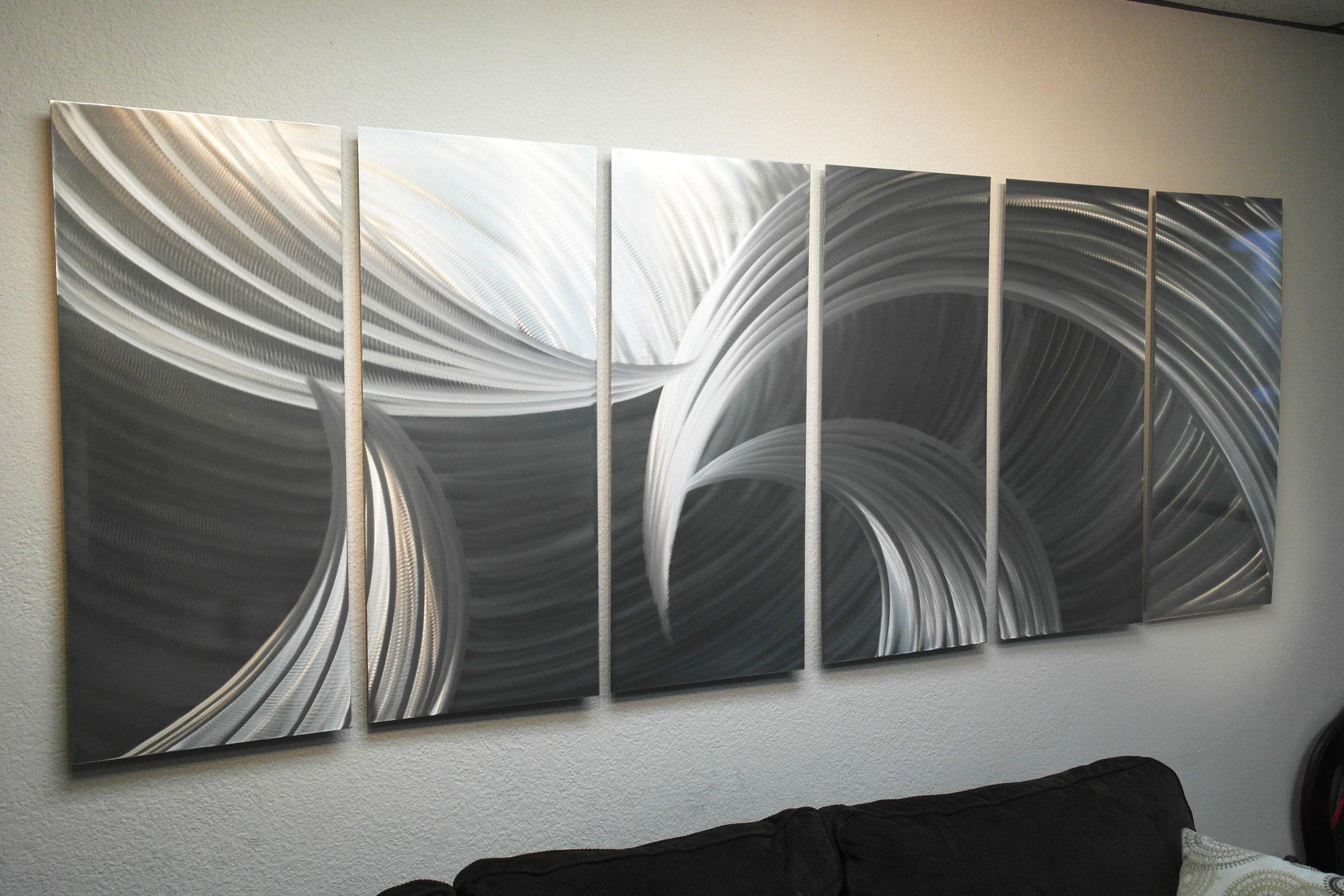 Metal Wall Art Abstract Sculpture Modern