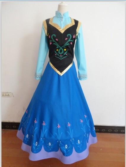 2014 disney frozen anna outfit wig dress cape anna cosplay costume princess dress anna. Black Bedroom Furniture Sets. Home Design Ideas