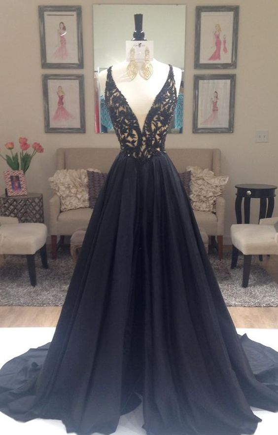 Black Prom Dress Prom Dresses Evening Party Gown Formal Wear from  bbpromdress