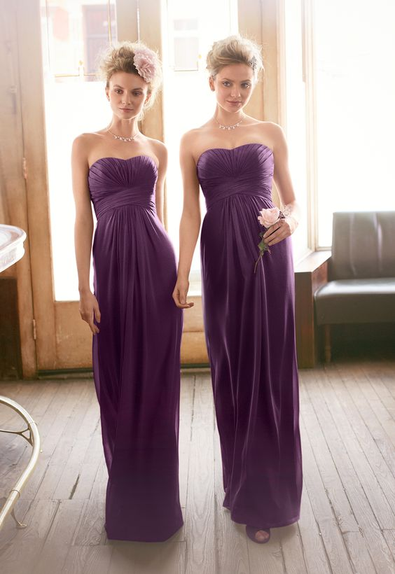 54bacb74f60ae A161 A line Long Chiffon Prom Dress,Purple Bridesmaid Dress,Bridesmaid Dress