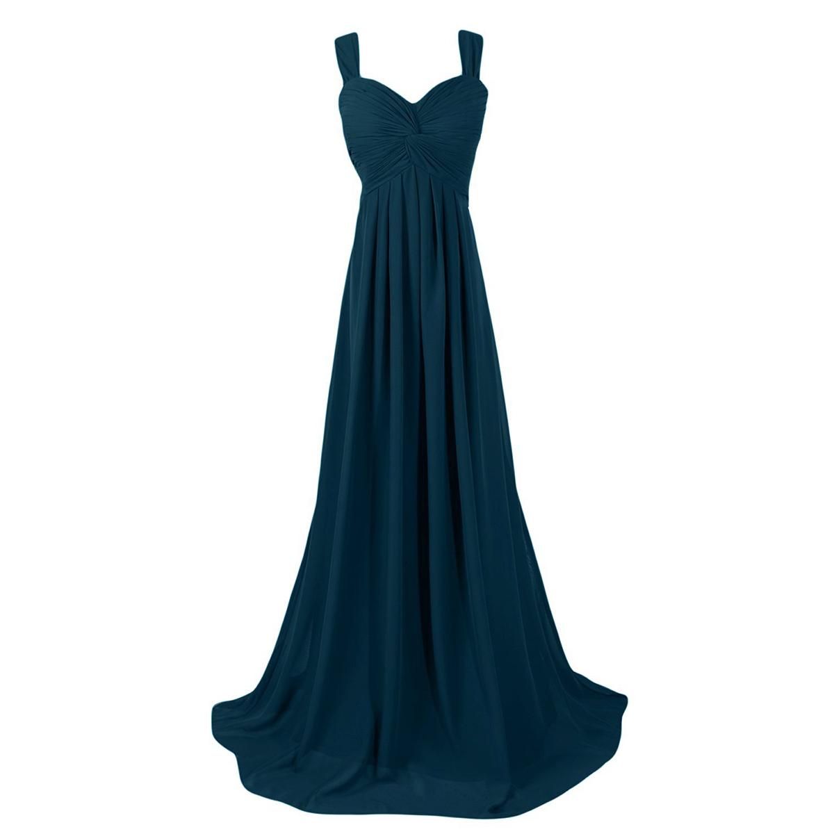 Elegant Dark Forest Long Bridesmaid Dresses, Modest Sweetheart Cheap ...