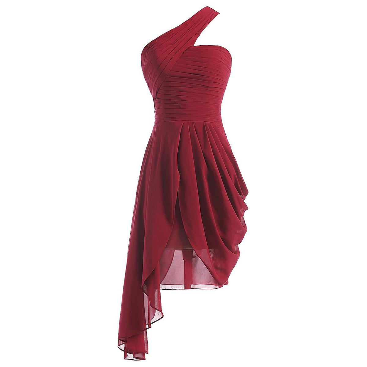 25e93a03a534 Burgundy Bridesmaid Dresses Chiffon