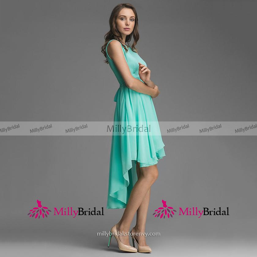 886db00a6d0 ... Bateau Neck Mint Green Bridesmaid Dress
