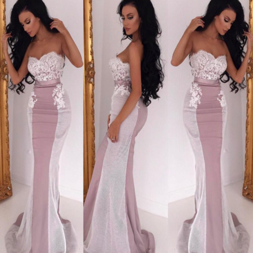 Strapless Mermaid Bridesmaid Dresses,Unique Style