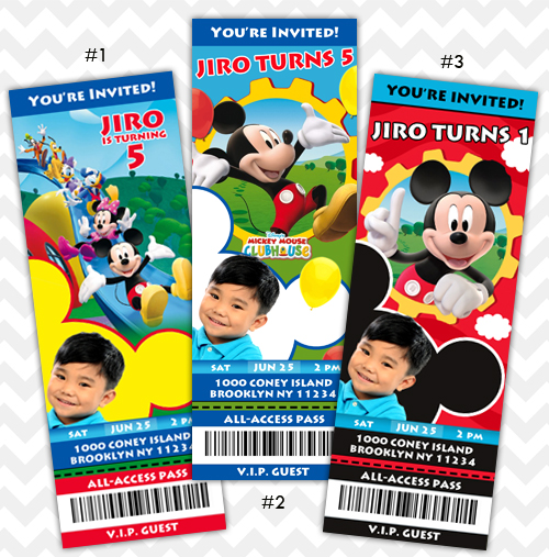 Mickey Mouse Clubhouse Invitation on Storenvy