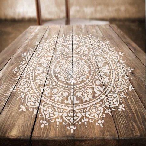 Mandala Stencil Prosperity Mandala Stencil For Furniture