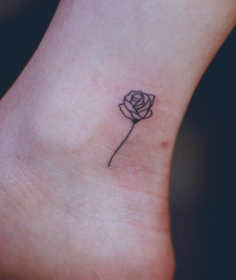 Rose Temporary Tattoo Ankle Tattoo From Chowmii