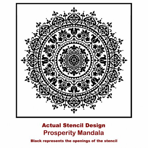 Mandala Stencil Prosperity Mandala Stencil For Furniture