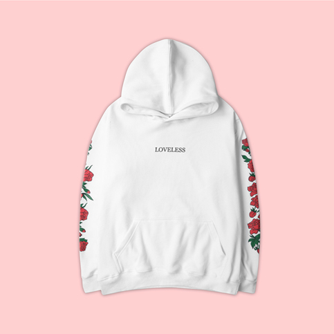 Unisex Vaporwave Loveless Rose Hoodies In White On Storenvy