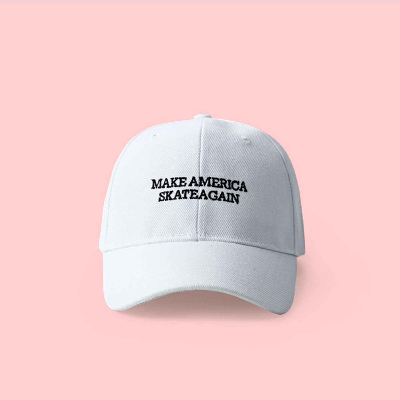 92b4ccbfbae UNISEX MAKE AMERICA SKATE AGAIN BASEBALL CAP IN WHITE on Storenvy