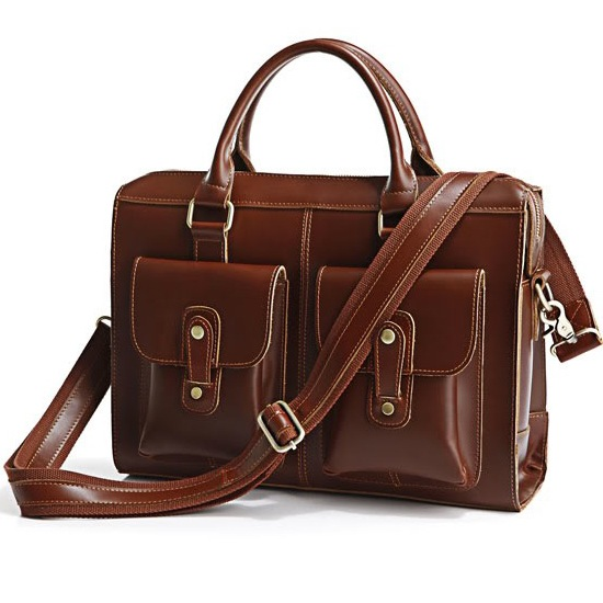 04f0dc726 New Year Gift Cowhide Leather Bag Business Travel Tote Macbook Bag  Briefcase Satchel--FREE
