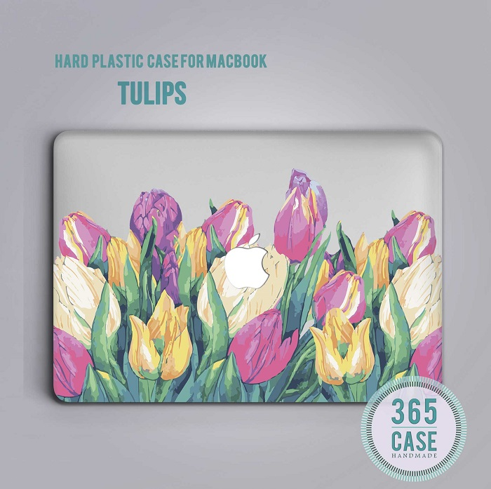 sports shoes 6709a bdef9 Tulips MacBook Case Floral MacBook Pro 15 Case MacBook Pro Retina 15 Case  MacBook Cover 11 Inch MacBook Air Case 13 Inch MacBook Case m022