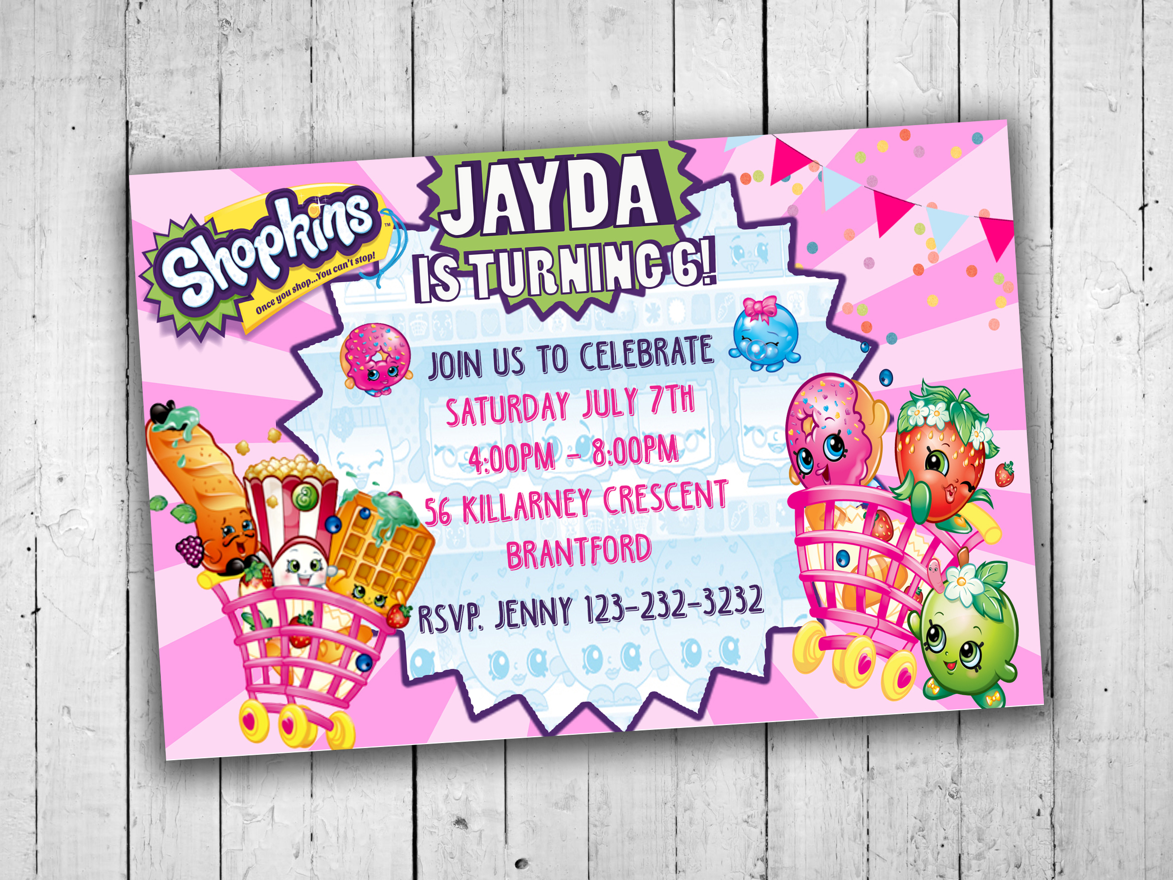shopkins party invitations kids party printables kids party