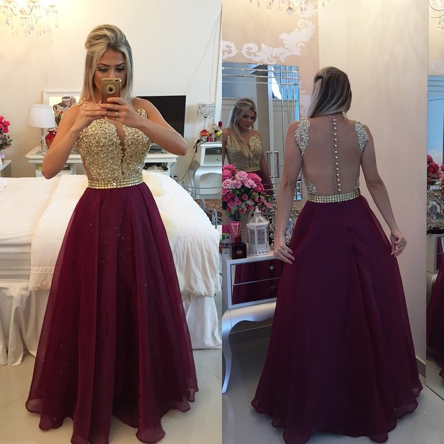 Sweetheart Burgundy Chiffon Long Prom Dress Popular Plus Size Formal Evening Dresses From Prom Dress