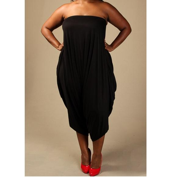 af26b068f9a Plus Size Tube Harem Jumpsuit Black on Storenvy