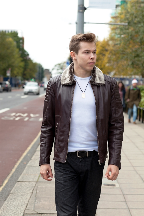 Men Lambskin Leather Jacket Biker Leather Jacket Leather Jacket