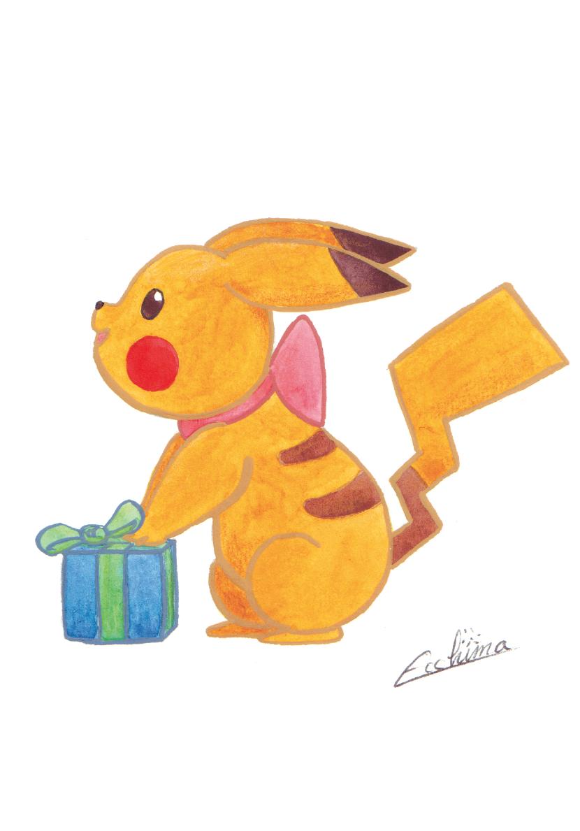 Christmas Pikachu.Christmas Pikachu From Ecchima S Shop