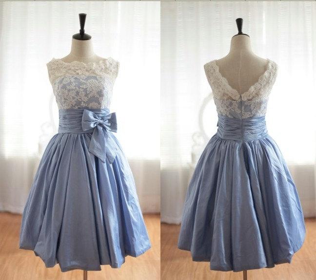 Cheap Lace Bridesmaid Dress,V-back Lace Party Dress,Short Lace ...