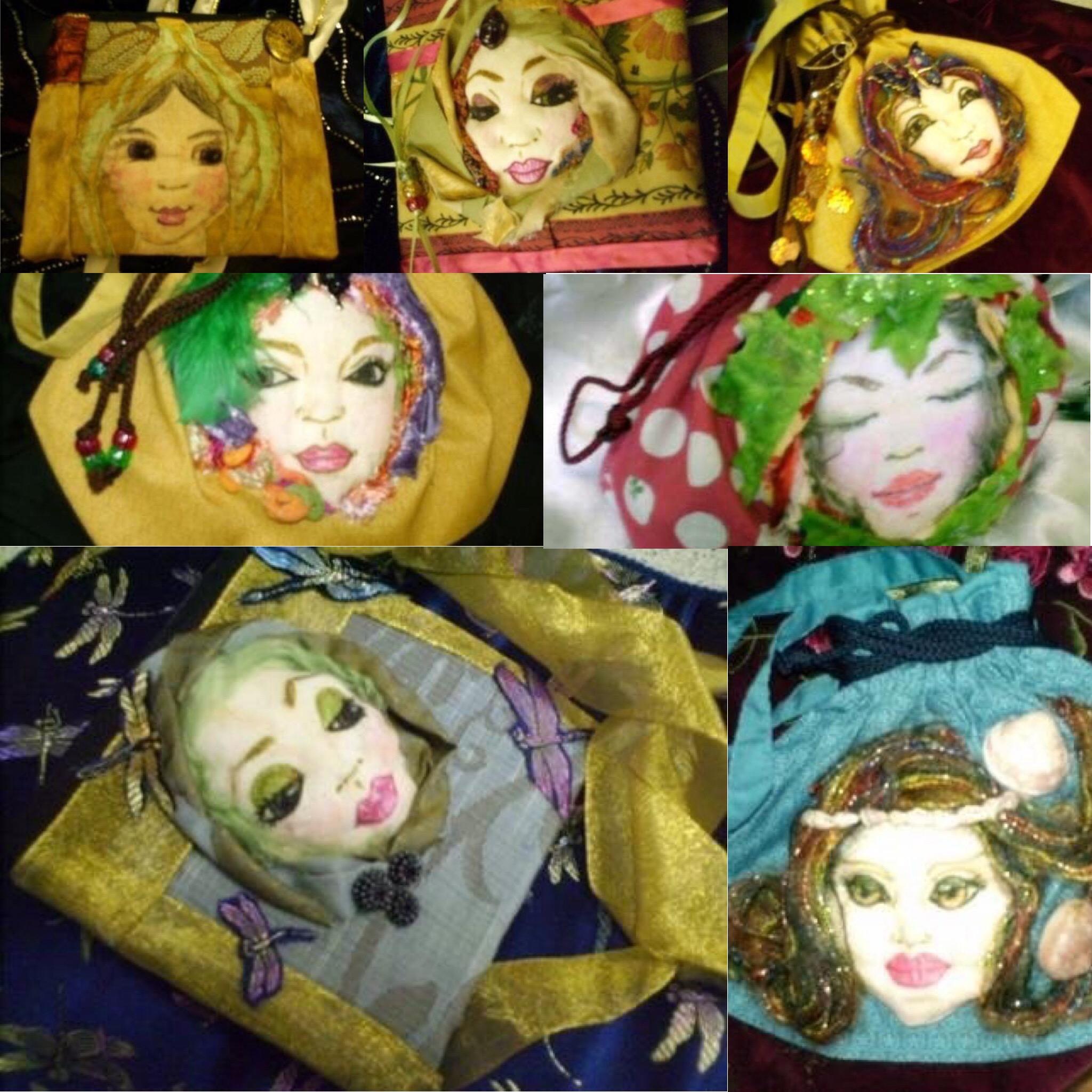Fairy face handbag-evening bag-purse (53730019 Faeryspell Creations) photo